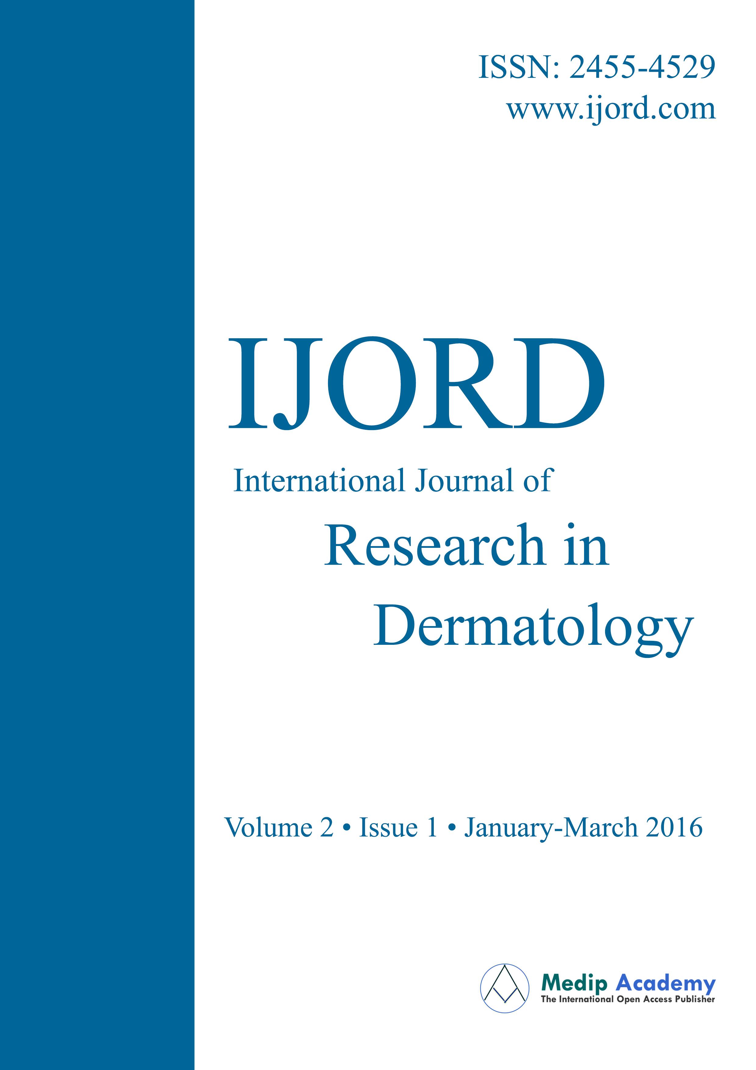 International Journal of Research in Dermatology